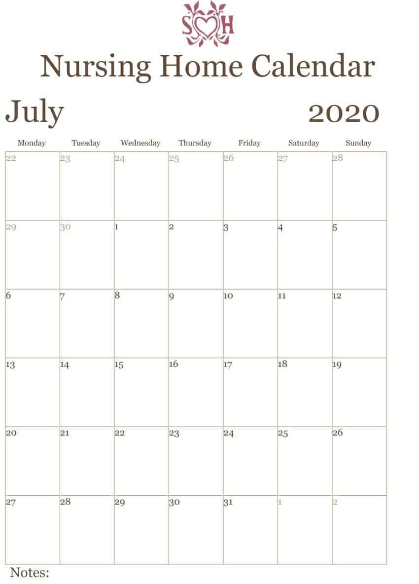 Nursing Home Calendar