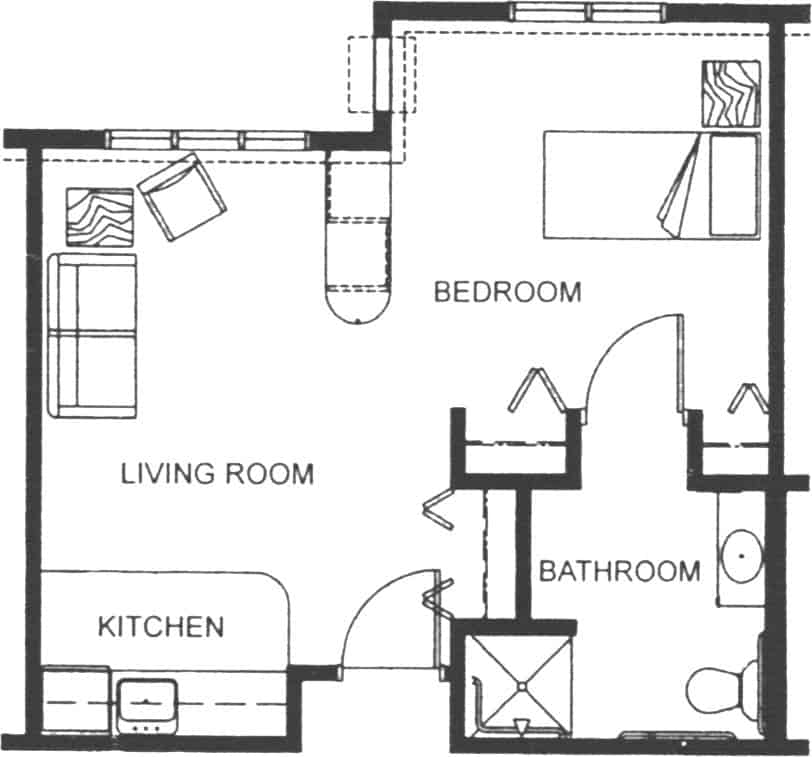 Assisted Living Apartment Floor Plan