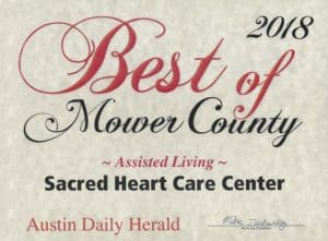 Austin Daily Herald Assisted Living Award 2018