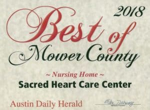 Austin Daily Herald Nursing Home Award 2018