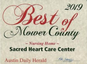 Austin Daily Herald Nursing Home Award 2019
