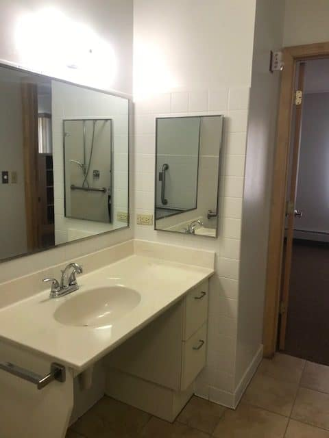 Sacred Heart Care Center Austin MN Assisted Living Apartment Bathroom Sink