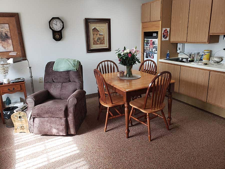 Sacred Heart Care Center Austin MN Assisted Living Apartment Kitchen