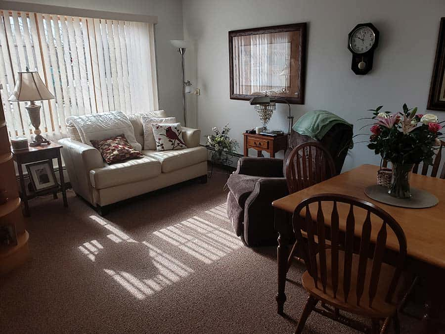 Sacred Heart Care Center Austin MN Assisted Living Apartment Living Room